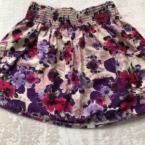 Flowered mini skirt